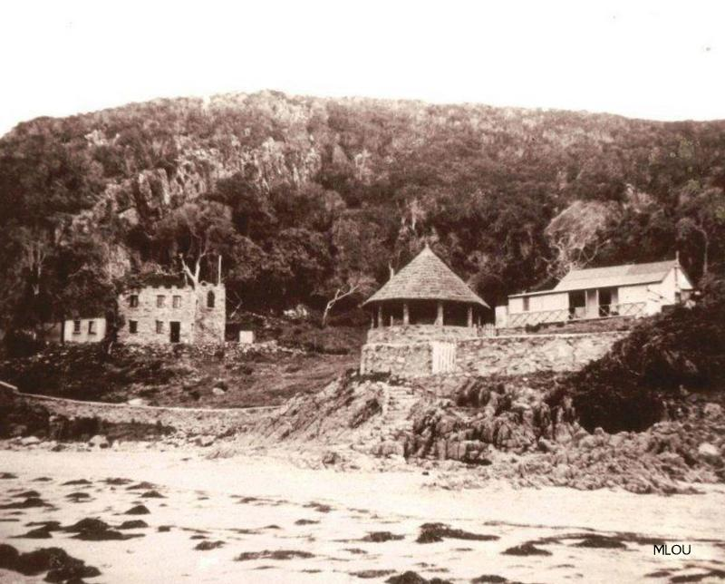 Noetzie cottages original wood-and-iron