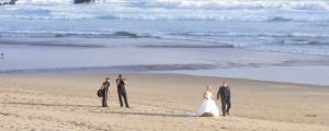beach wedding photo session