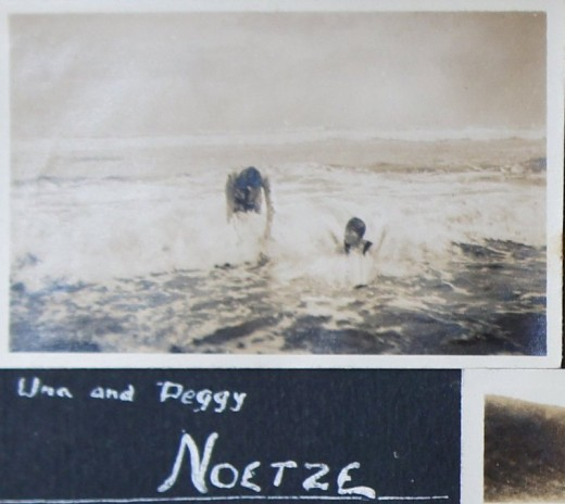 John W. Newdigate album - Una and Peggy